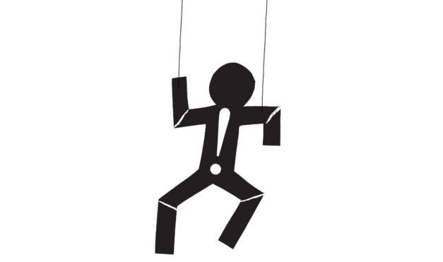 Leopoldo, títere. Ilustración del libro Casa de Marionetas, de Andrea Petrlik. Editorial Leetra.