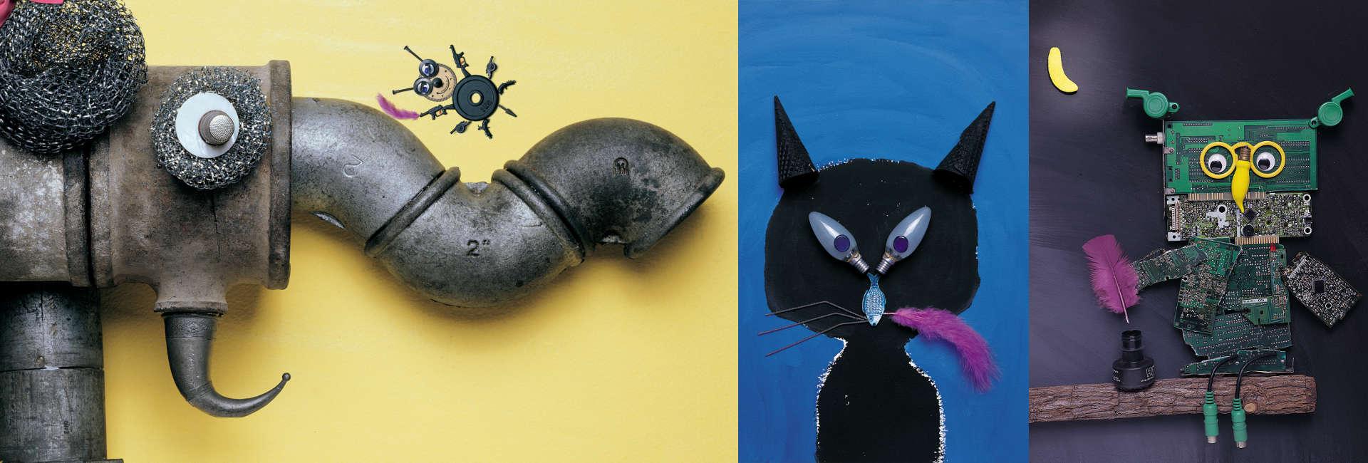 Arte de Hanoch Piven, parte del libro ilustrado La Pluma Violeta - encuéntralo en Leetra.