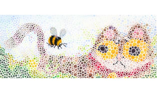Ilustración del libro Todos vieron un gato - abeja y gato