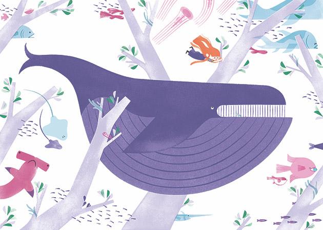 Ilustración de tercera rama, libro ilustrado de Alexandra Pichard